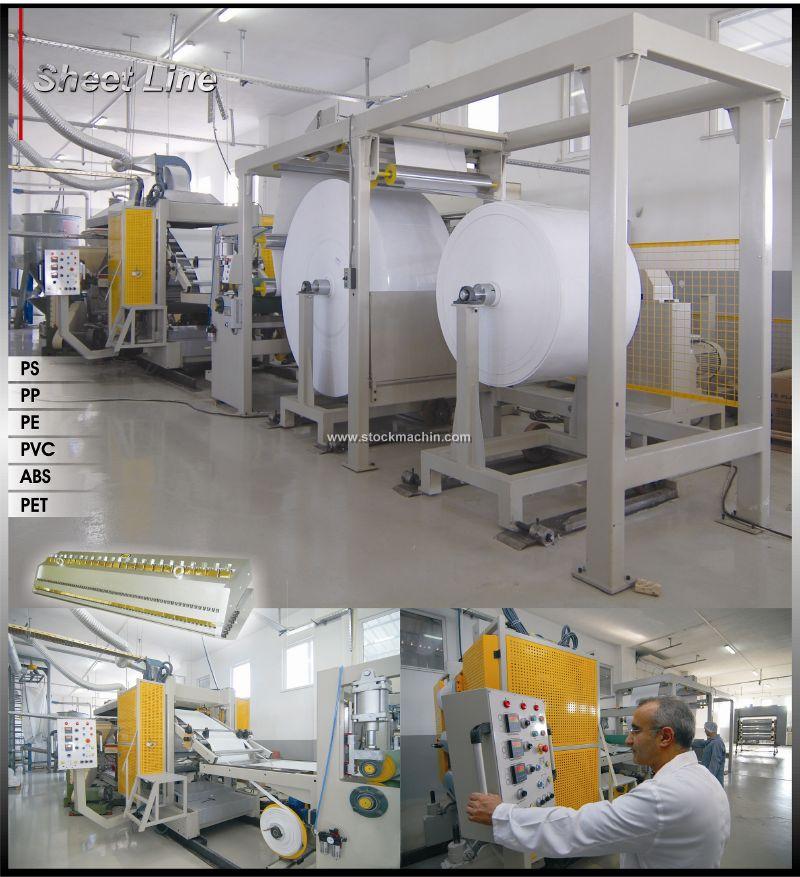 فروش دستگاه تولید ظروف یکبار مصرف و تولید تسمه بسته بندی ...sheet line